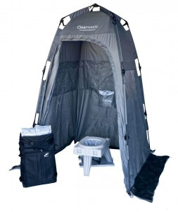 Camping Toilet and Shelter