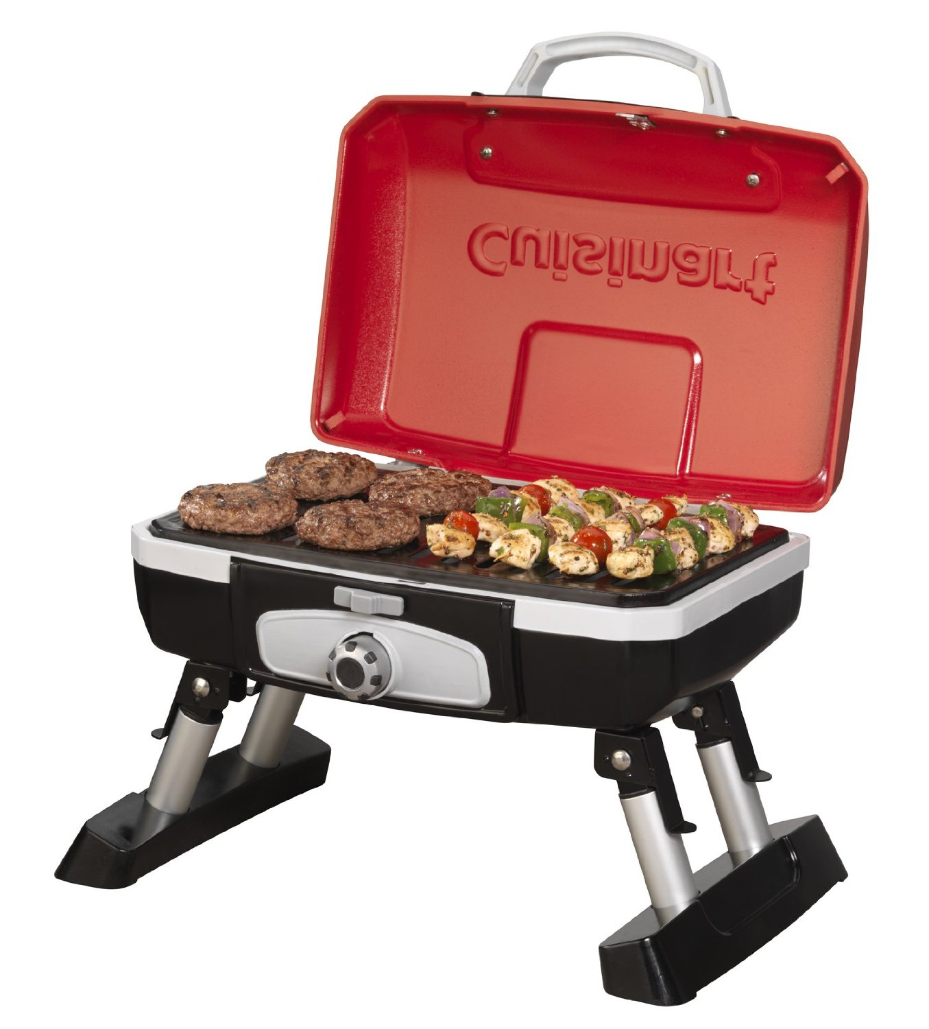cuisinart petit gourmet portable gas grill open easier camping. Black Bedroom Furniture Sets. Home Design Ideas